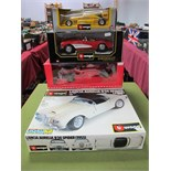 Four Boxed Diecast Formula One and Sports Cars, Paul's Model Art 1:18th scale MS-Collection
