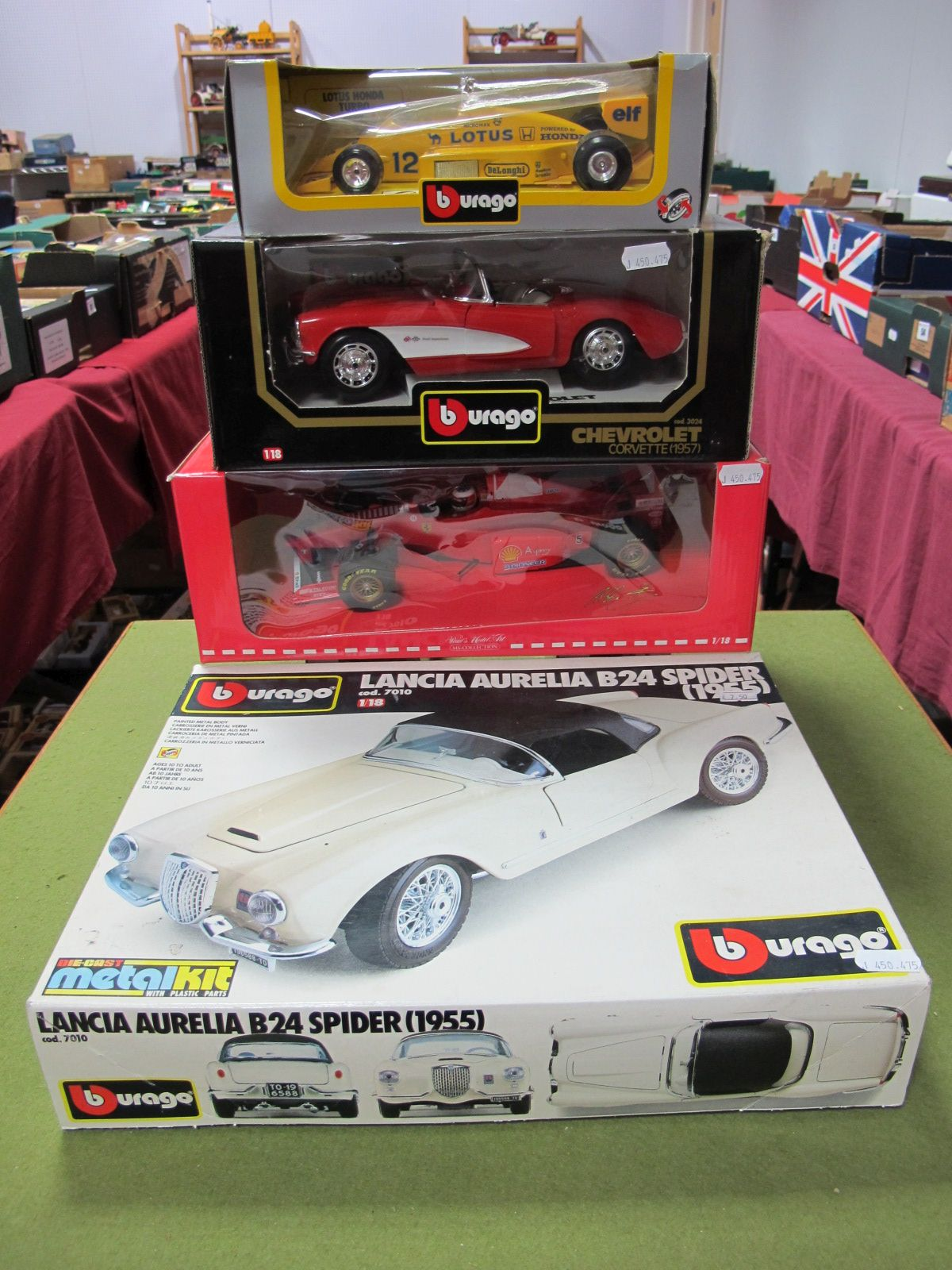 Lot 58 - Four Boxed Diecast Formula One and Sports Cars, Paul's Model Art 1:18th scale MS-Collection