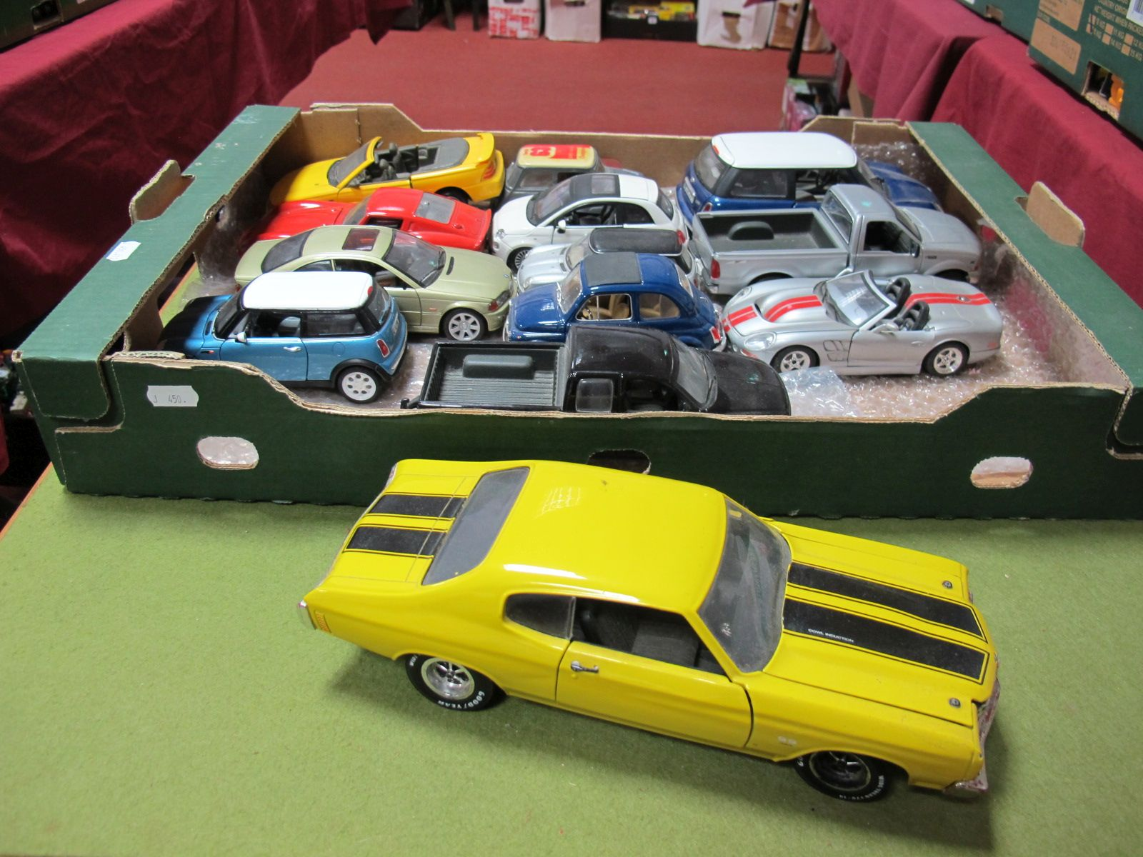 Lot 51 - Thirteen Diecast Model Cars of Varying Scale by ERTL, Burago, Maisto, including ERTL 1:18th scale