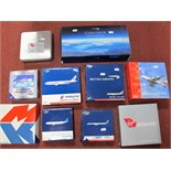 Ten Boxed Diecast Commercial Aircraft of Differing Scale, Gemini Jets being the prominent
