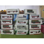 Fourteen Boxed Atlas Editions 1:76th Scale Eddie Stobart Diecast Commercial Vehicles, including