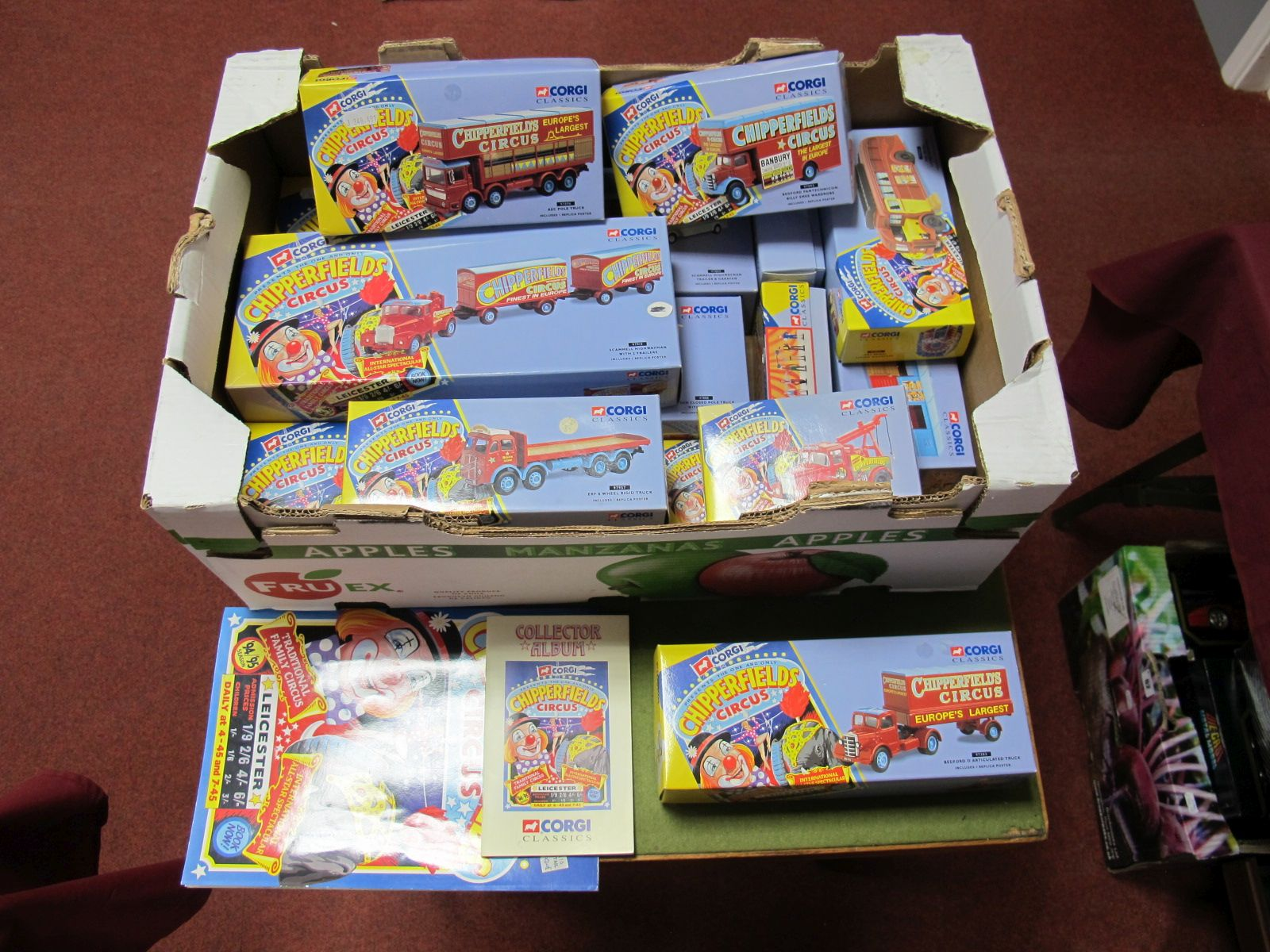 Lot 44 - Fourteen Corgi Chipperfields Circus Diecast Vehicles and Circus Figures, including #97888 Foden