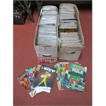 In Excess of Six Hundred Comics, by Marvel, DC, Helix, IOW including New Talent Showcase,