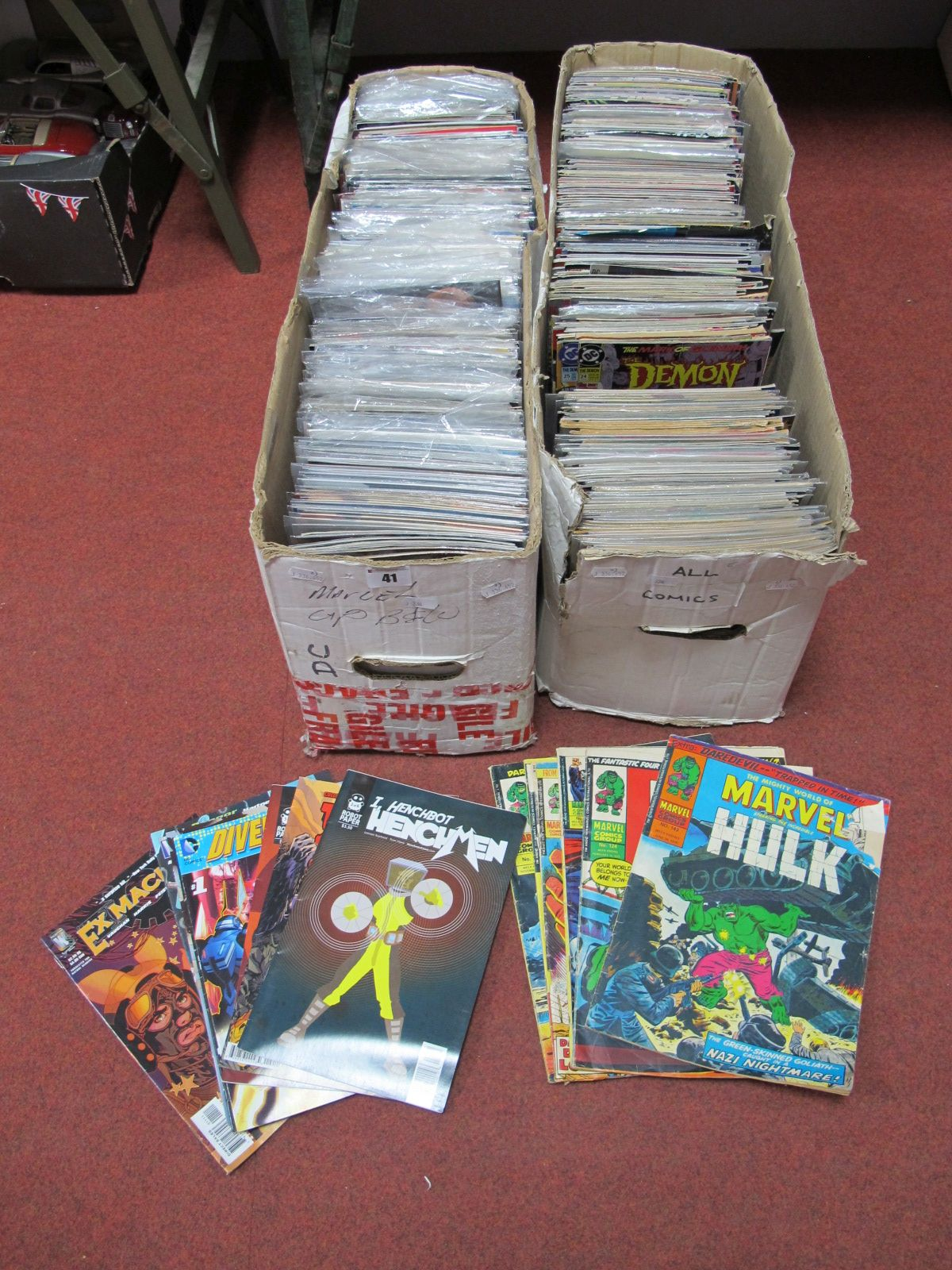 Lot 41 - In Excess of Six Hundred Comics, by Marvel, DC, Helix, IOW including New Talent Showcase,
