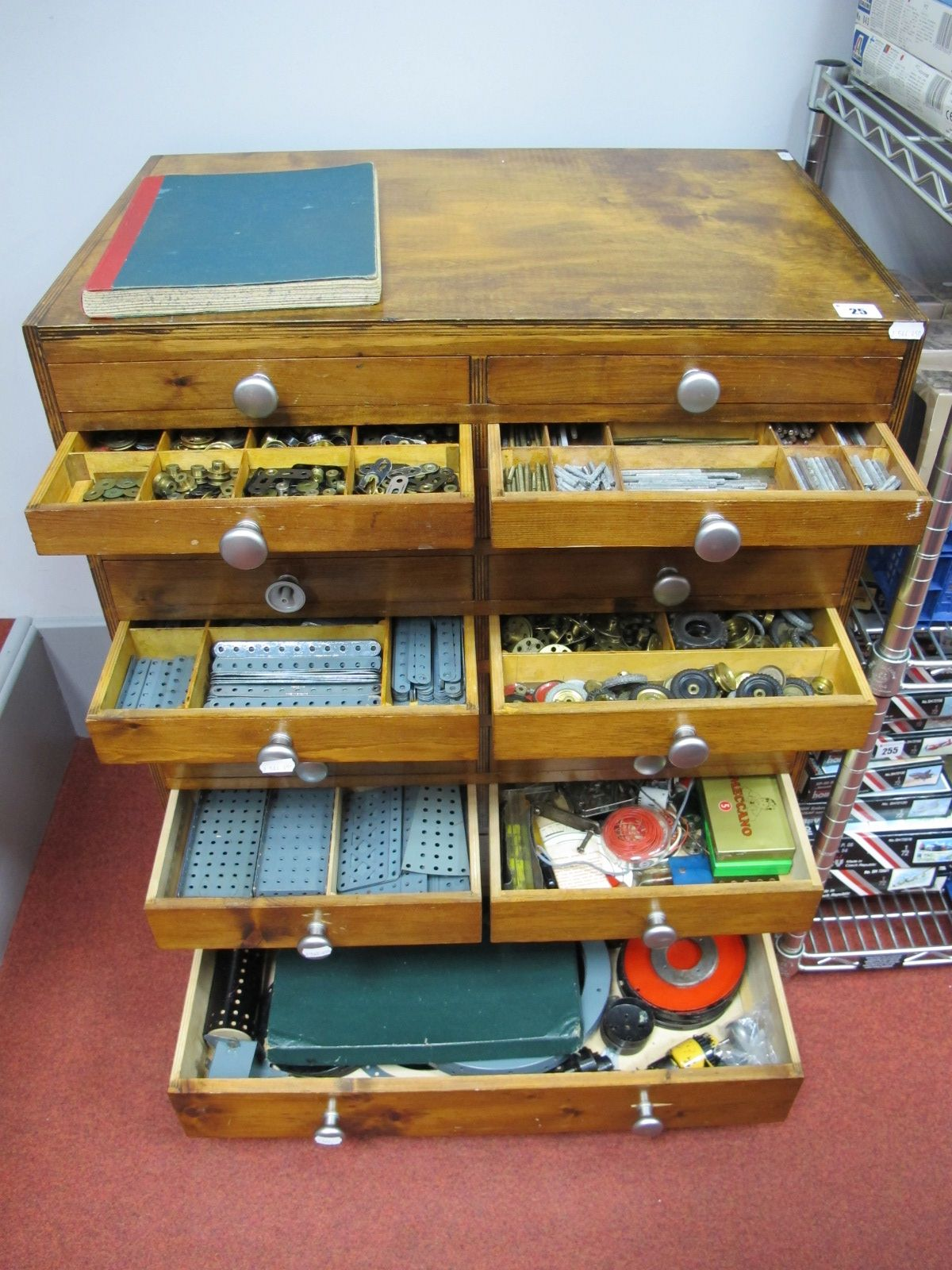 Lot 25 - A Very Large Quantity of Meccano, dating from the 1930's to the 1970's many items repainted. Rare