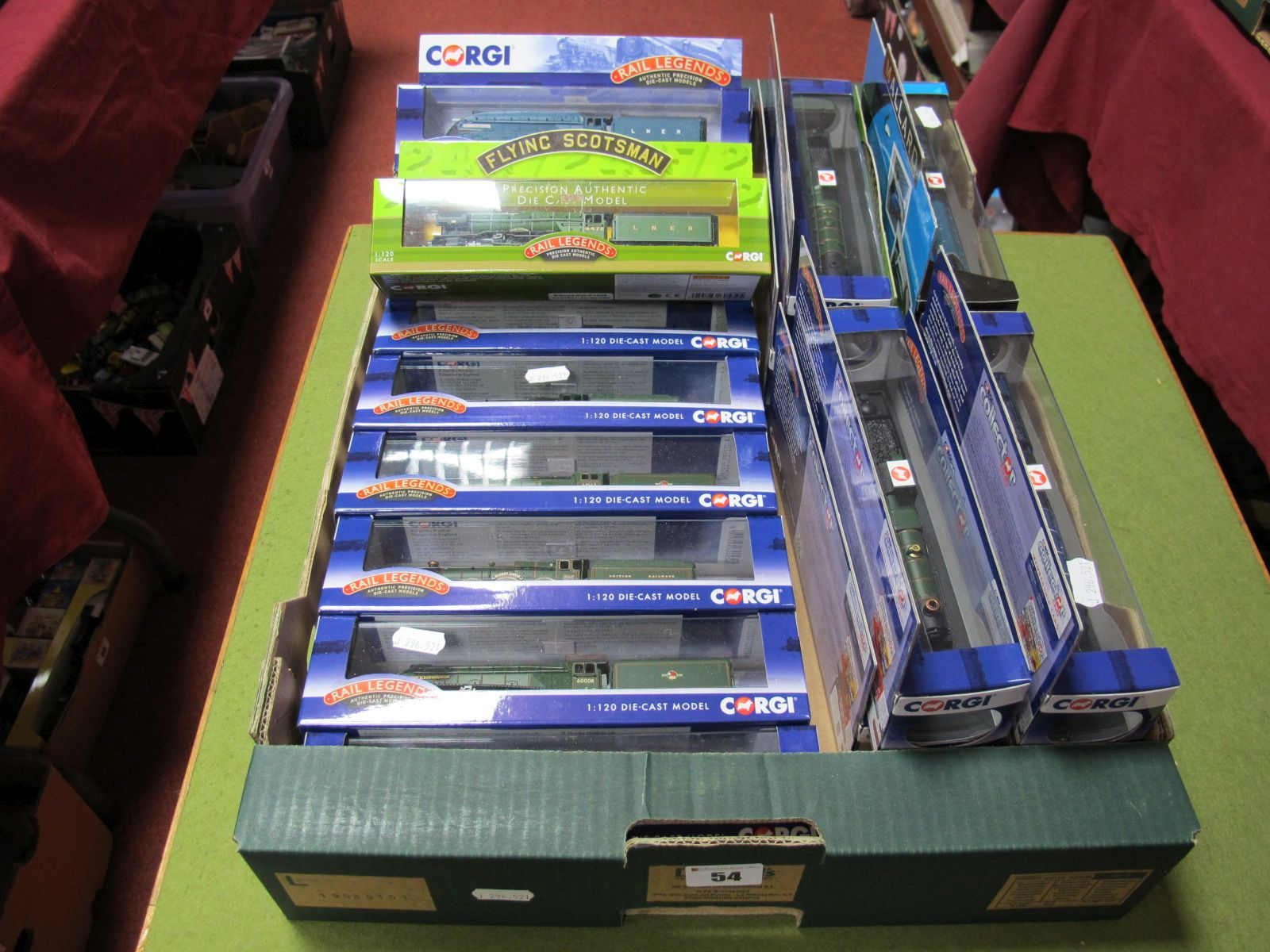 Lot 54 - Nineteen Boxed Corgi Rail Legends 1:120th Scale Diecast Locomotives and Tenders, including #