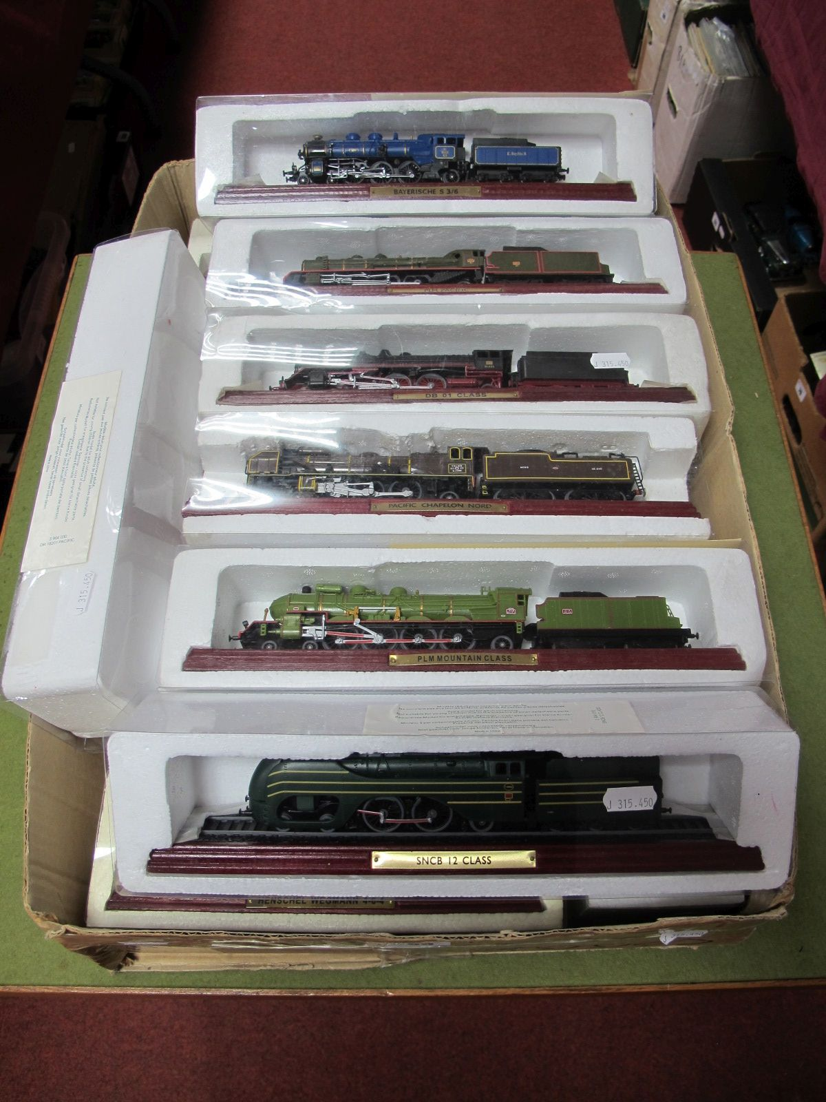 Lot 59 - Fifteen Atlas Edition 1:100th Scale Locomotives, including Pacific Chapelon Nord, PLM Pacific,