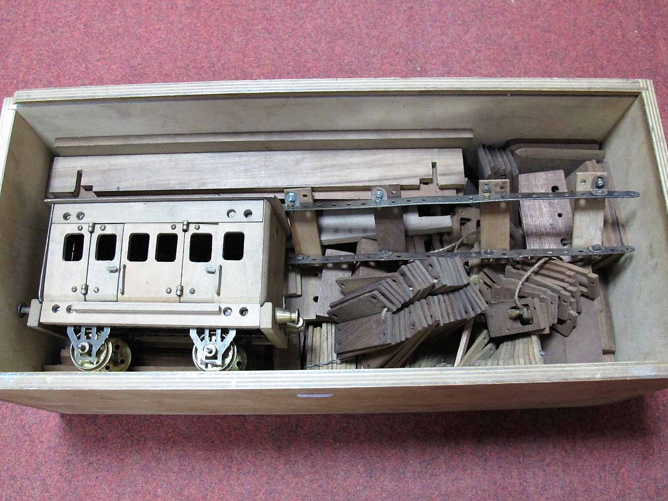 Lot 12 - An Early XX Century Primus Engineering (W. Butcher and Sons) Modelling Kit, largely wooden with