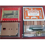 Two Boxed Mid XX Century Construction Sets, both along the lines of Meccano. Primus Engineering
