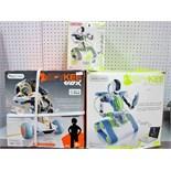 Three Boxed Meccano Spykee Interactive Robots, #08710 Spykee Vox, #0850 Spykee The Spy Robot, #