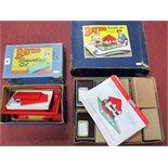 A Quantity of Post War Red and Green Bayko Plastic Building Set parts, including 3x, 2x (2),