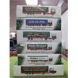 Six Boxed Atlas Editions 1:76th Scale Eddie Stobart Diecast Commercial Vehicles.