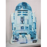 An Original Star Wars R2-D2 Card Standee 1993, slightly faded but unmistakable and rare.