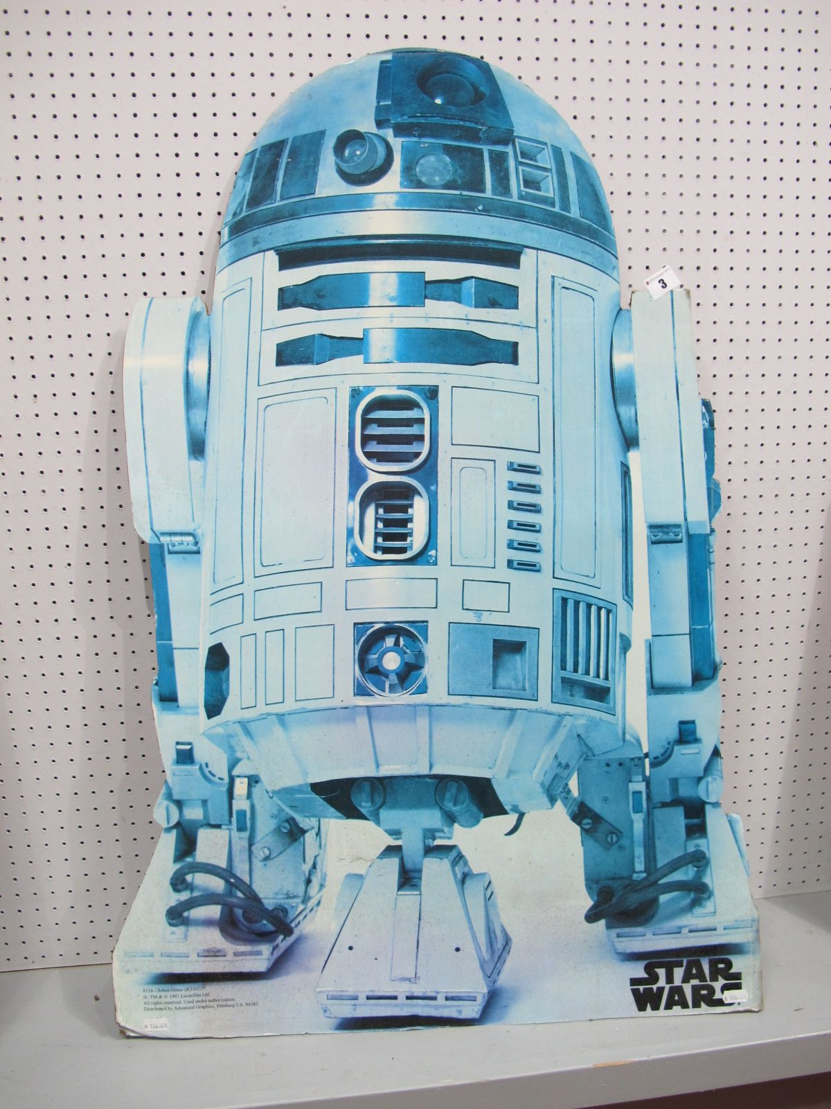 Lot 3 - An Original Star Wars R2-D2 Card Standee 1993, slightly faded but unmistakable and rare.