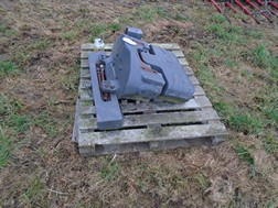 Lot 54 - 285kg belly weight & front weight rack for Massey Ferguson
