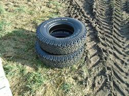 Lot 5A - 2 BF Goodrich 235/85R16 tyres NO VAT