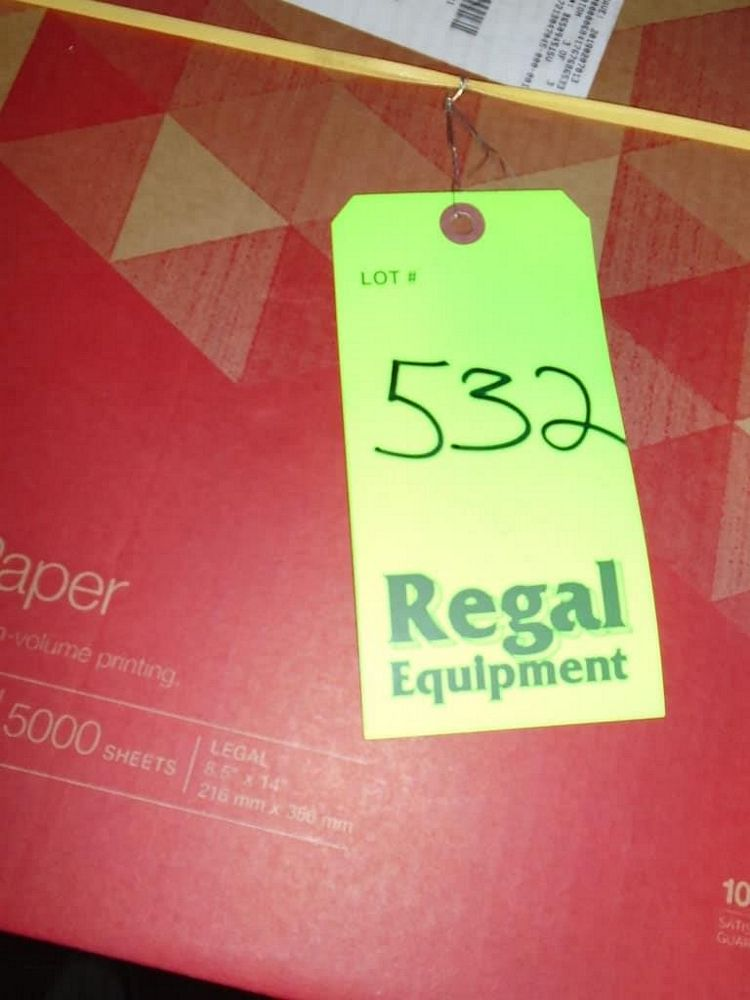Lot 532RB - Pallet of Printer Paper, Form Paper, and Paper Cups