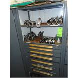 Shelves with drawers and contents of drawers ( clips, brackets, washers, brass fitting, idlers)