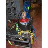Rubber maid Lube Cart and 1 1/2 ton hoist