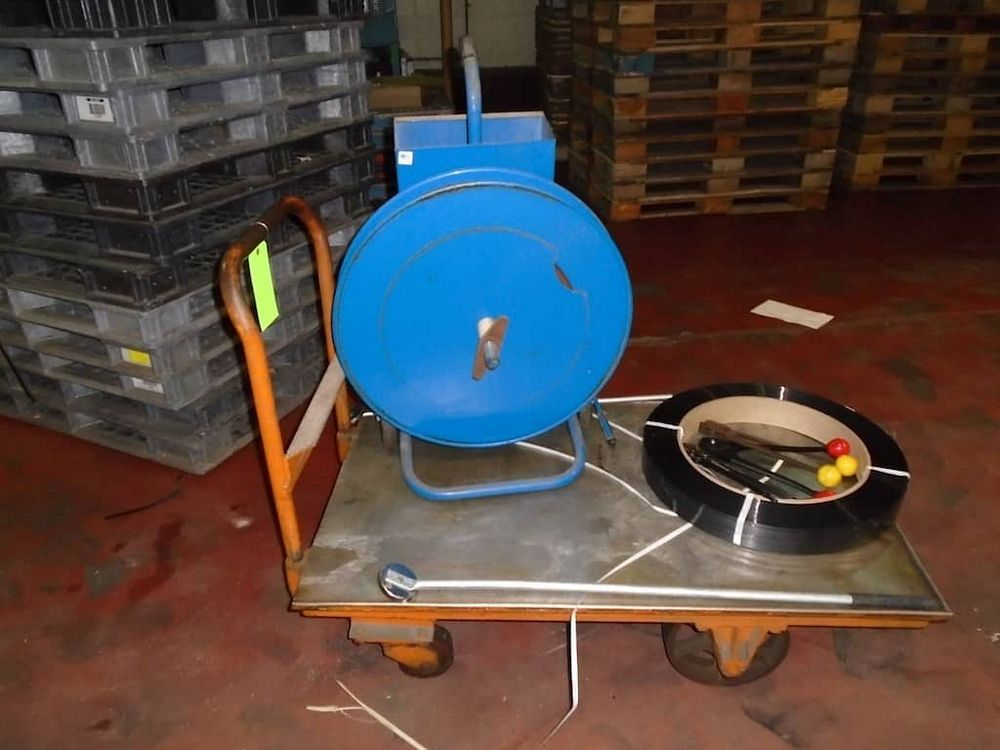 Lot 160RB - Banding Machine and Cart