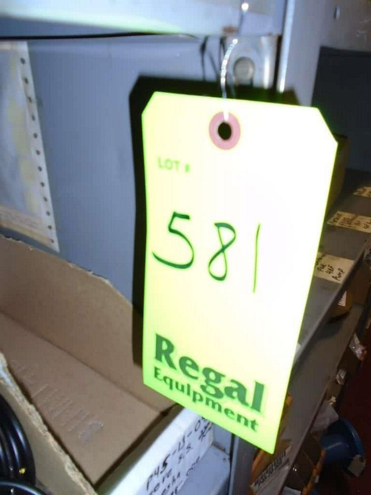 Lot 581RB - Contents of Shelves ( Assorted Shaker Tables, Knives, O-Rings Ball Bearings)