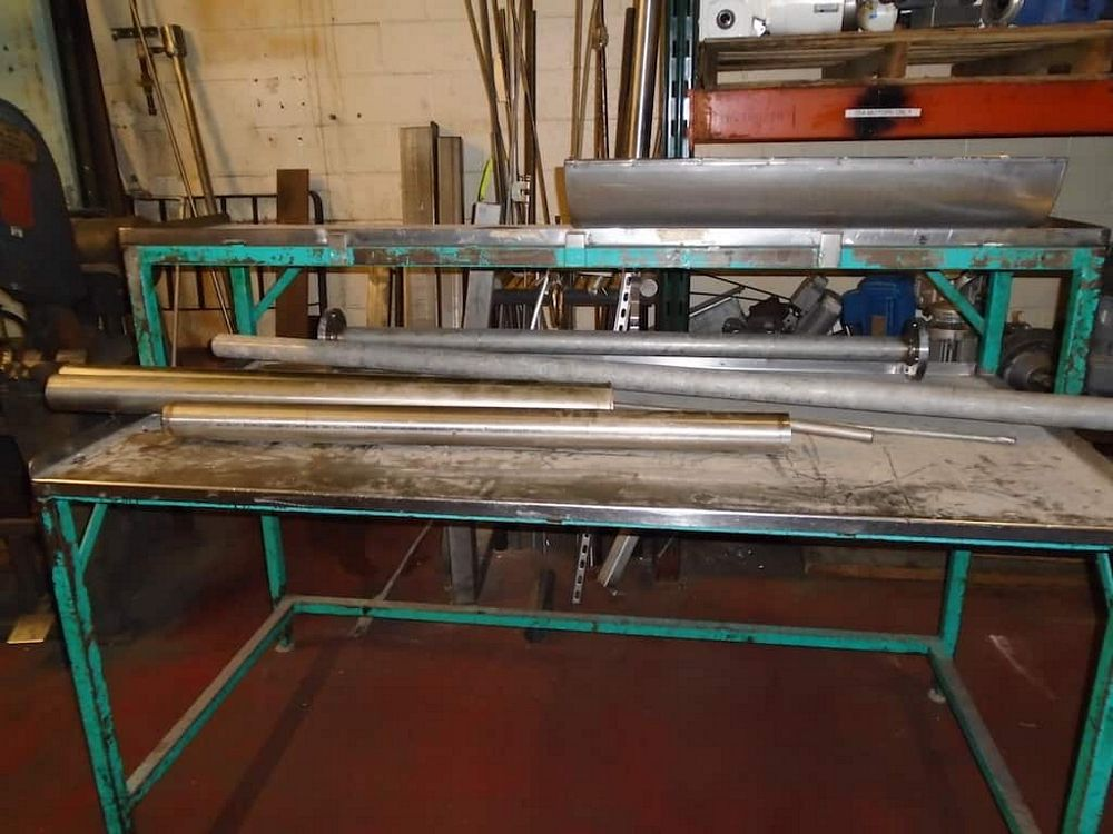 Lot 407RB - Stainless Steel Table and Contents