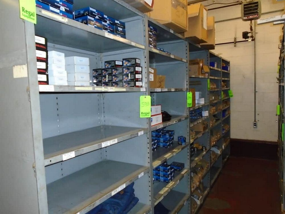 Lot 595RB - Contents of Shelves ( Assorted Angelus Parts)