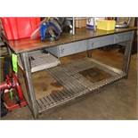 Metal Welding Table with three drawers