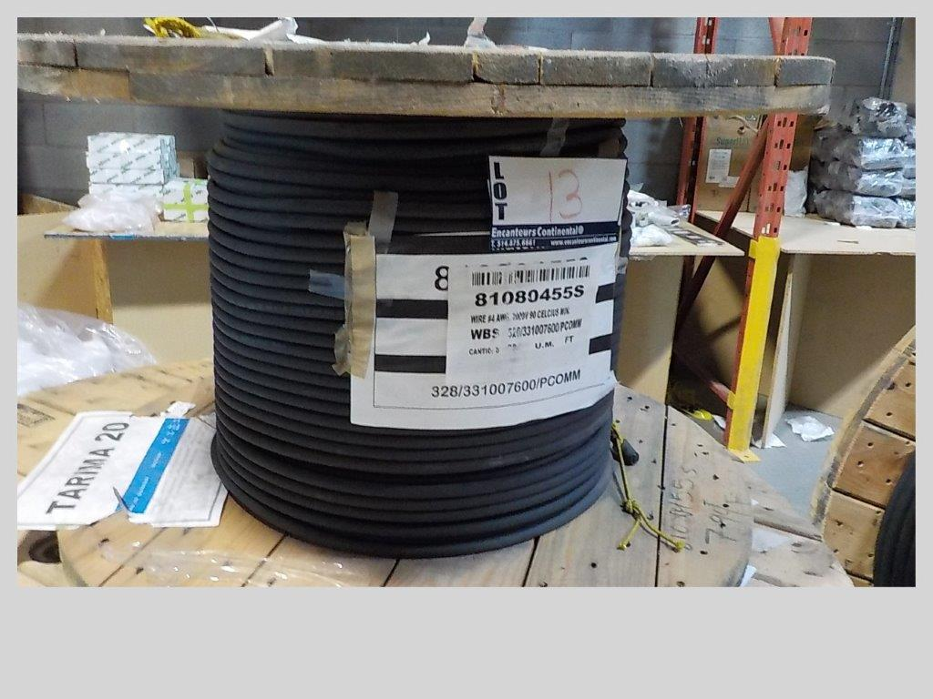 Lot 13 - lot: wire / fils: # 4 AWG, 2000V, 90 celcius min. (794')