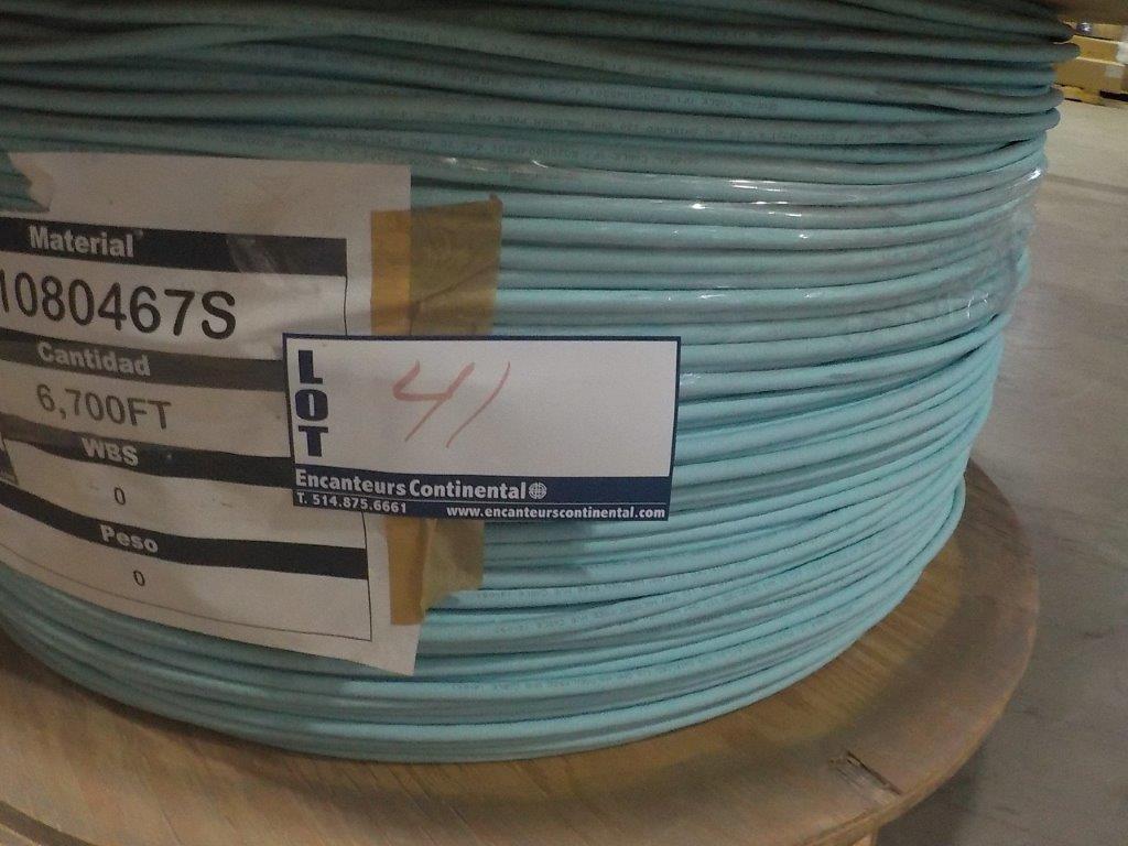 Lot 41 - lot: wire / fils: # 4/C 20 AWG, 1,000V, 120 ohm (6,700')