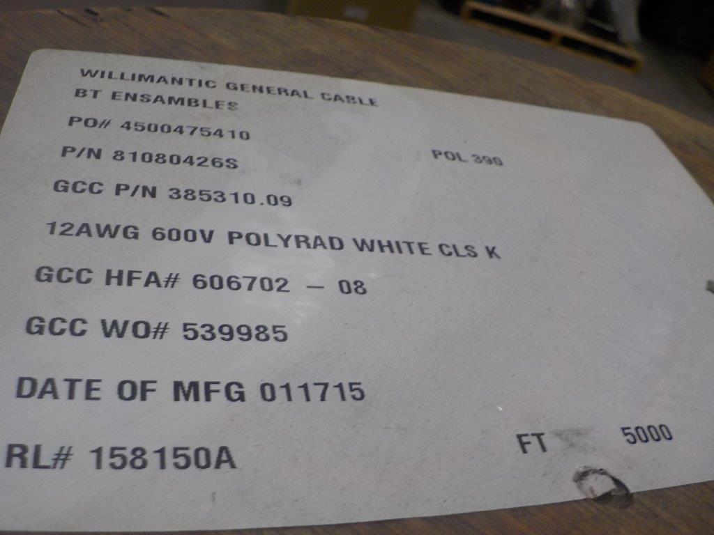 Lot 31 - lot: wire / fils: # 12 AWG, 600V. (5,000')