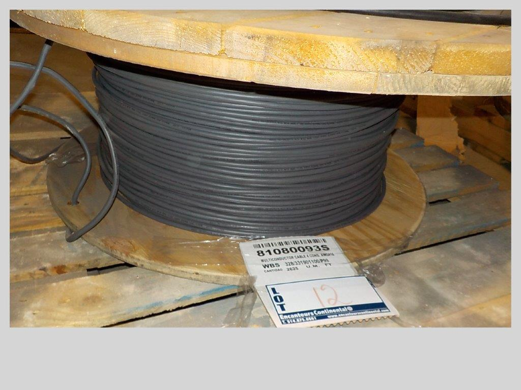 Lot 12 - lot: wire / fils: Multiconductor cable, 4 cond. (2,625')