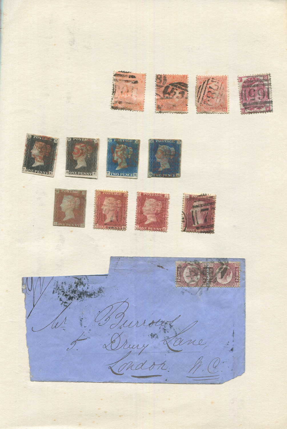 Lot 3030 - Four albums of world stamps, including two Great Britain 1840 1d black with two 2d blue used, 1d