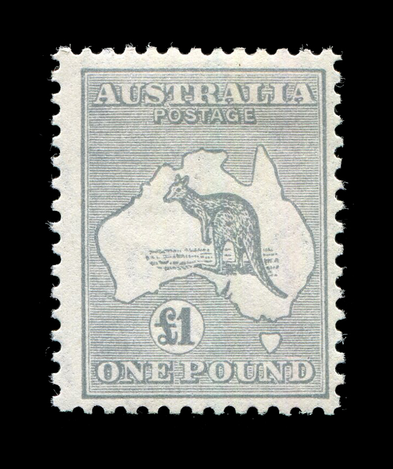 Lot 3012 - An Australia 1931-36 £1 grey stamp fine mint (SG 137).Buyer's Premium 29.4% (including VAT @ 20%) of