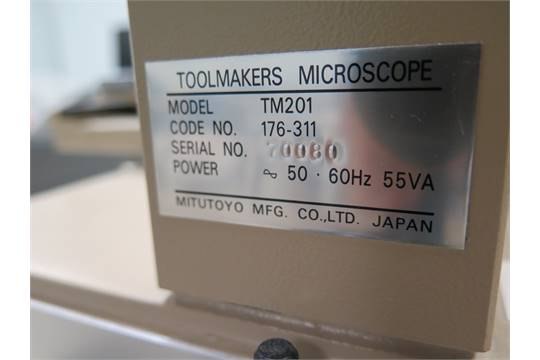 Mitutoyo mdl  TM201 Tool Makers Microscope