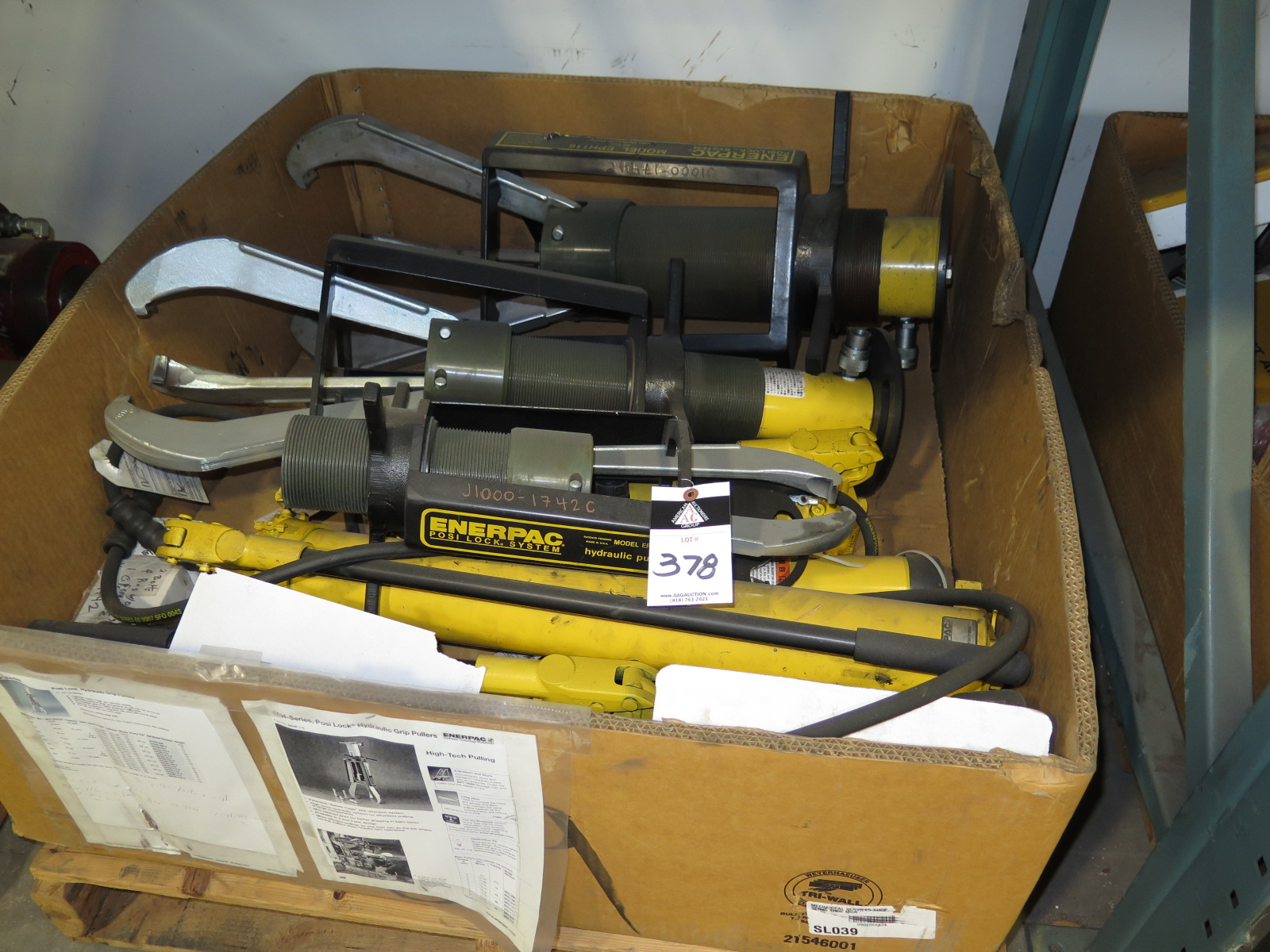 Posi Lock Hydraulic Puller : Enerpac hydraulic puller eph