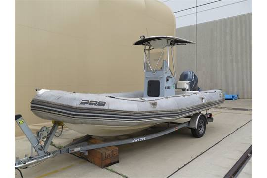 2007 Zodiac Hurricane 21 Hard Bottom Inflatable Boat Hull