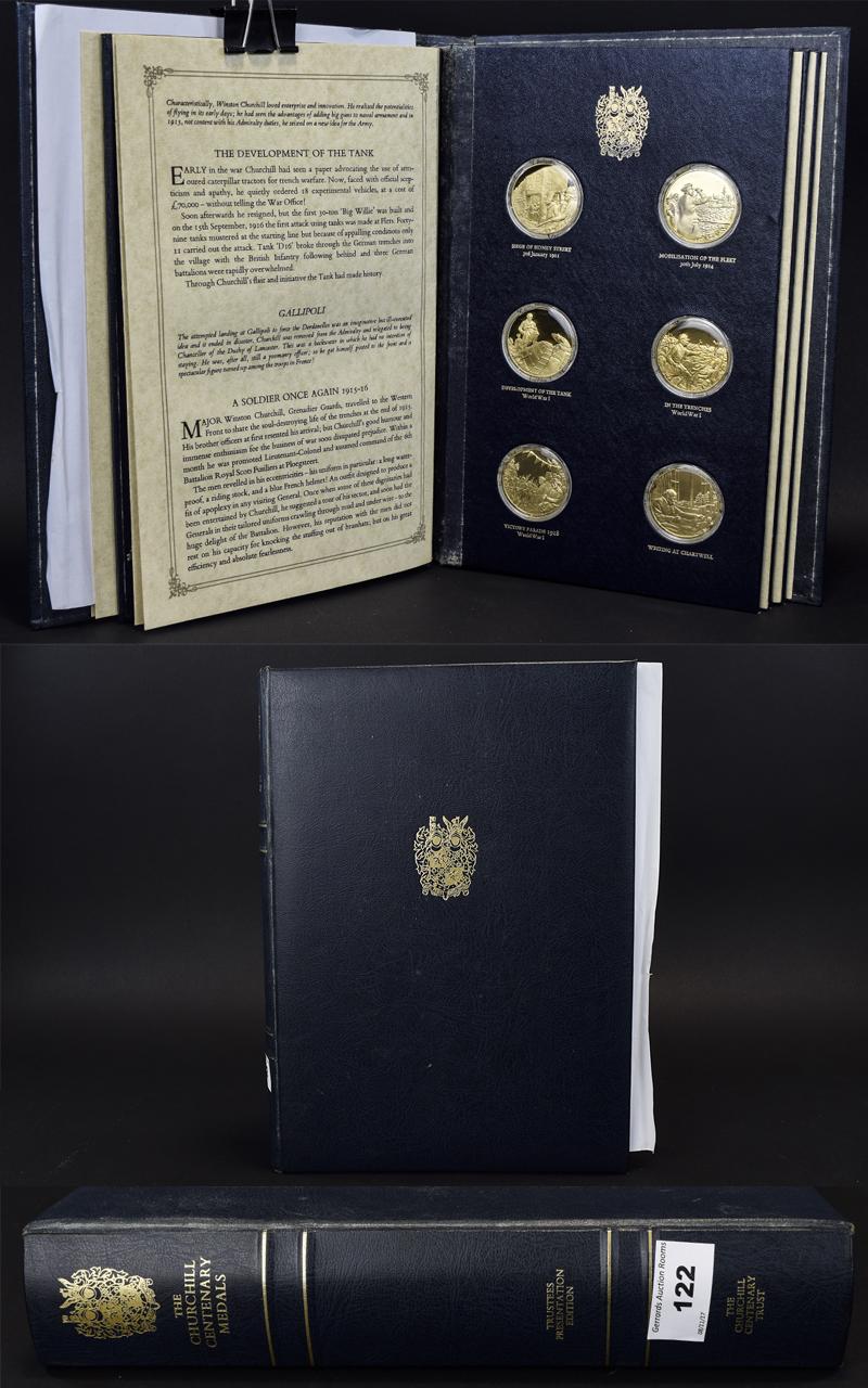 Lot 122 - The Churchill Centenary Silver Medals -