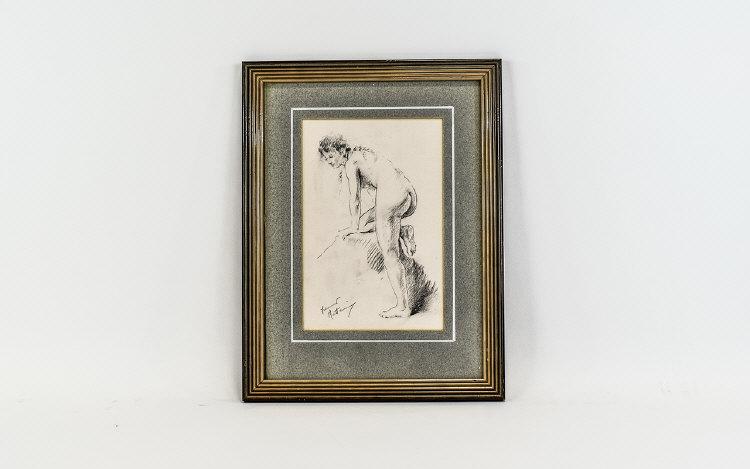 Lot 978 - Franco Matania (born 1922) Nude Pencil 8