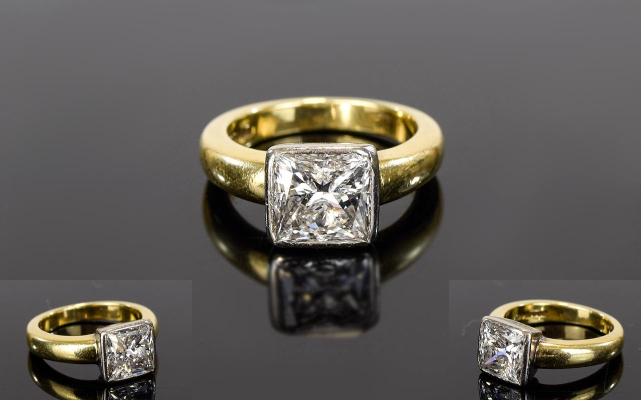Lot 13 - Ladies 18ct Single Stone Diamond Ring Th