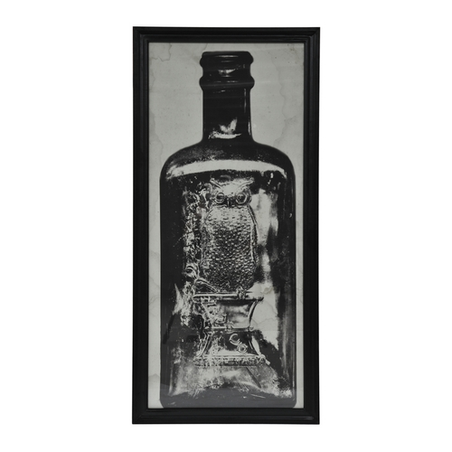 Lot 53 - Graphics Copper Bottle Art Work 1 in Black Wood Frame 59 X 3 X 130 5cm