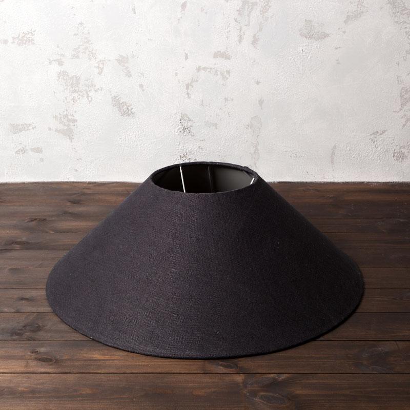 Lot 117 - Coolie Shade Hemp Linen Shade Charcoal 75 5 X 75 5 X 26cm