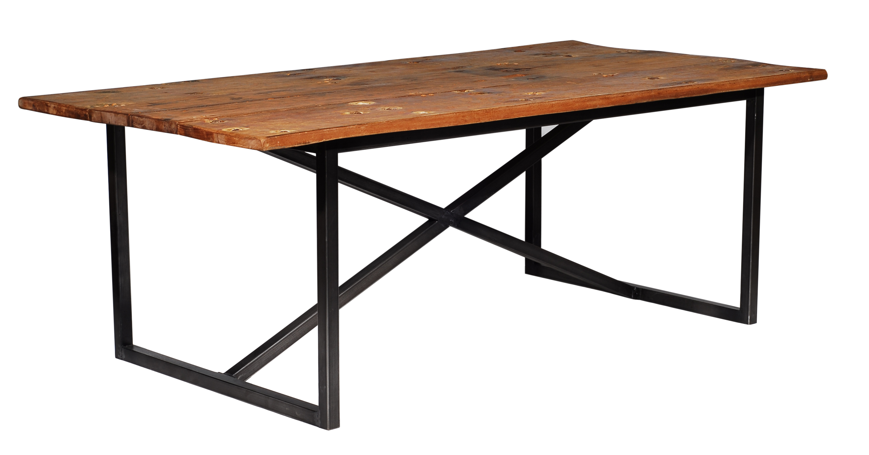 Lot 30 - Axel Dining Table The Axel Dining Table Combines Old World And Industrial With Its Combination of