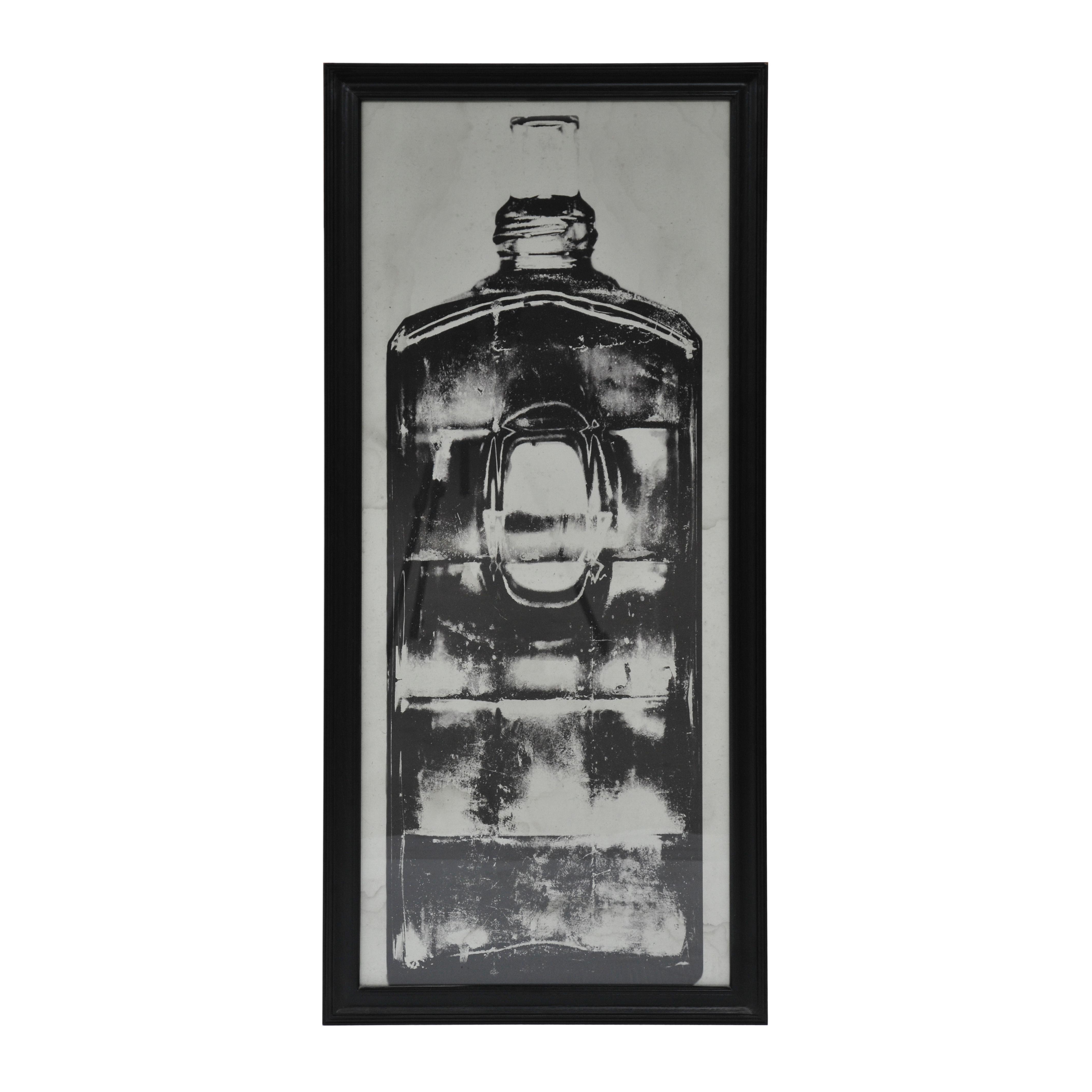 Lot 58 - Graphics Copper Bottle Art Work 3 in Black Wood Frame 59 X 3 X 130 5cm