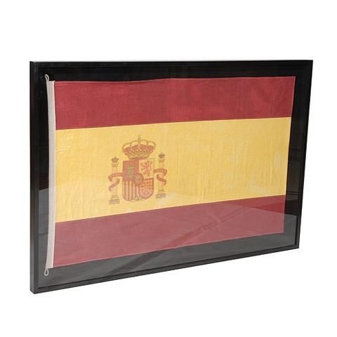 Lot 42 - Flag Medium Shadow Box Spain 150 X 6 X 90cm