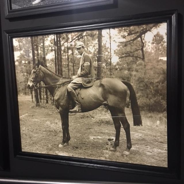 Lot 12 - Portraits Boy On Horse Art Black Wood 100 3 X 3 X 82 5cm
