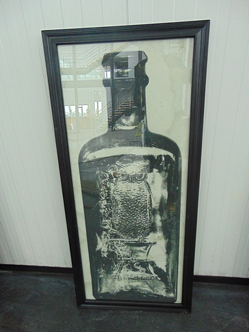 Lot 55 - Graphics Copper Bottle 3 Black Wood 59 X 3 X 130.5cm