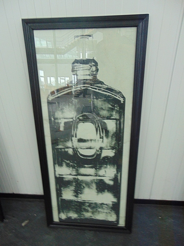 Lot 56 - Graphics Copper Bottle 2 Black Wood 59 X 3 X 130.5cm