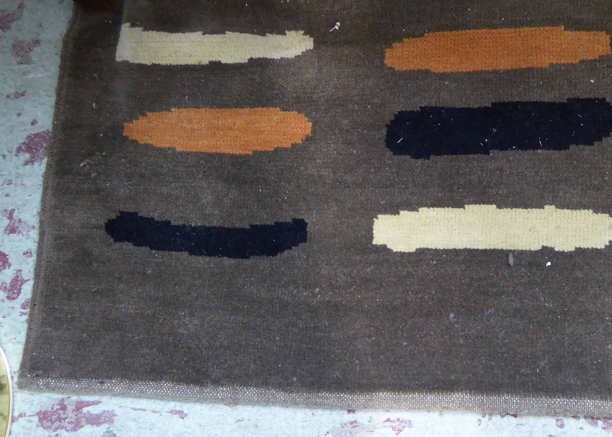 Lot 34 - RUG, contemporary, 1960's inspired design, 366cm x 300cm.