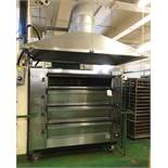Mono FG 145 4 Deck / 24 Tray Electric Bakery Deck Oven w/ Extraction Canopy | Advised YOM: 2000